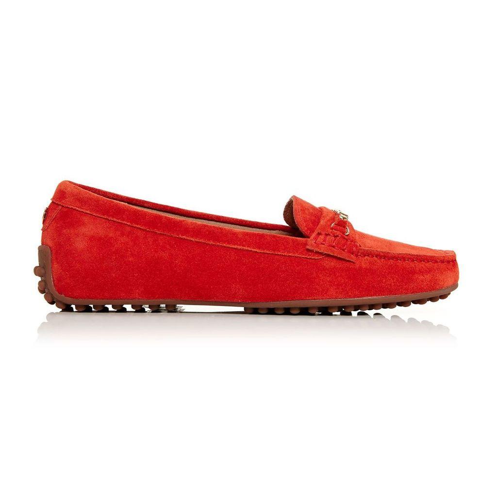 Moda in Pelle Emarli Orange Flat Casual Shoes