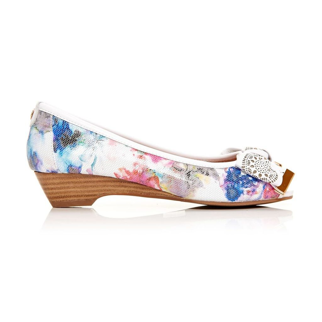Moda in Pelle Gabrio Floral Low Smart Shoes