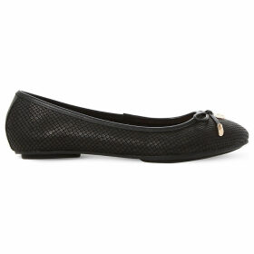 Dune Hype leather ballerina shoes, Women's, Size: EUR 37 / 4 UK WOMEN, Black-reptile
