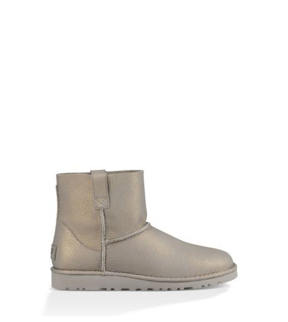 UGG Classic Unlined Mini Metallic Womens Boots Silver 6