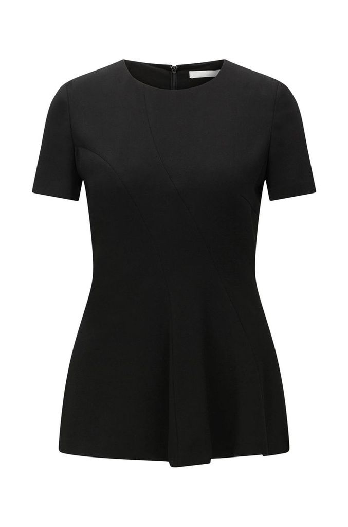 Short-sleeved top in textured fabric blend: `Illerry1`