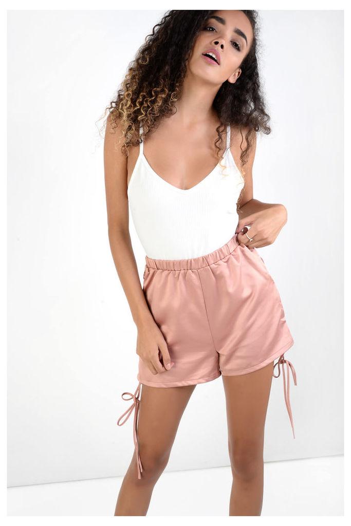 Rose Satin Lace Side Shorts