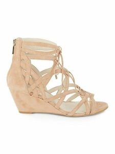 Dylan Suede Cage Wedge Sandals