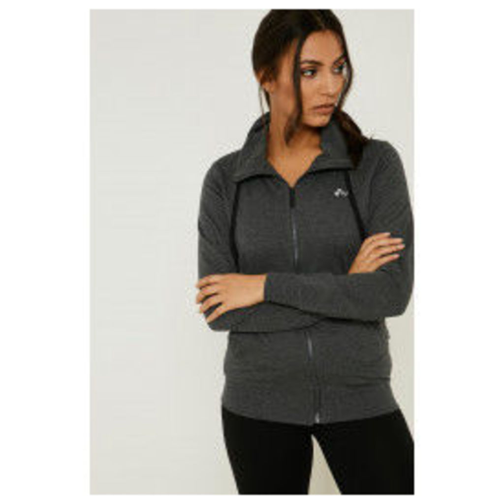 Only Play Lina High Neck Sweat Top - Grey