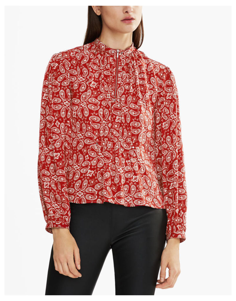 Belstaff Lauren Long-Sleeved Shirt Carmine Red