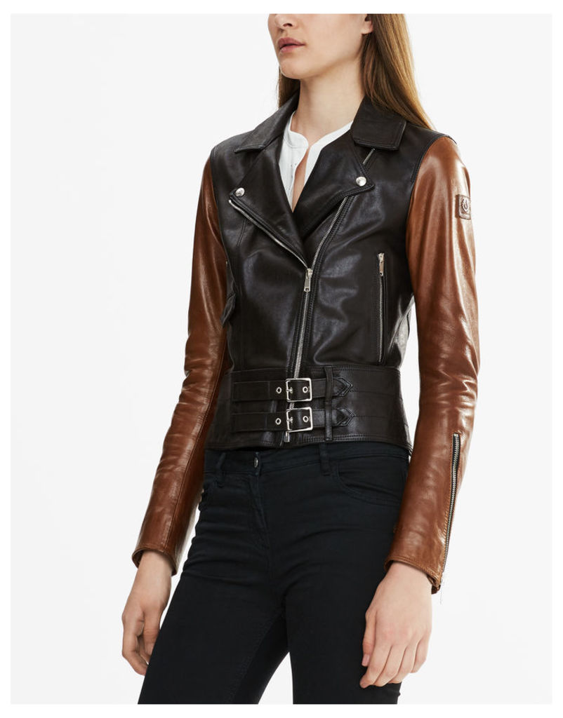 Belstaff Colefort Biker Jacket Black / Dark Brown