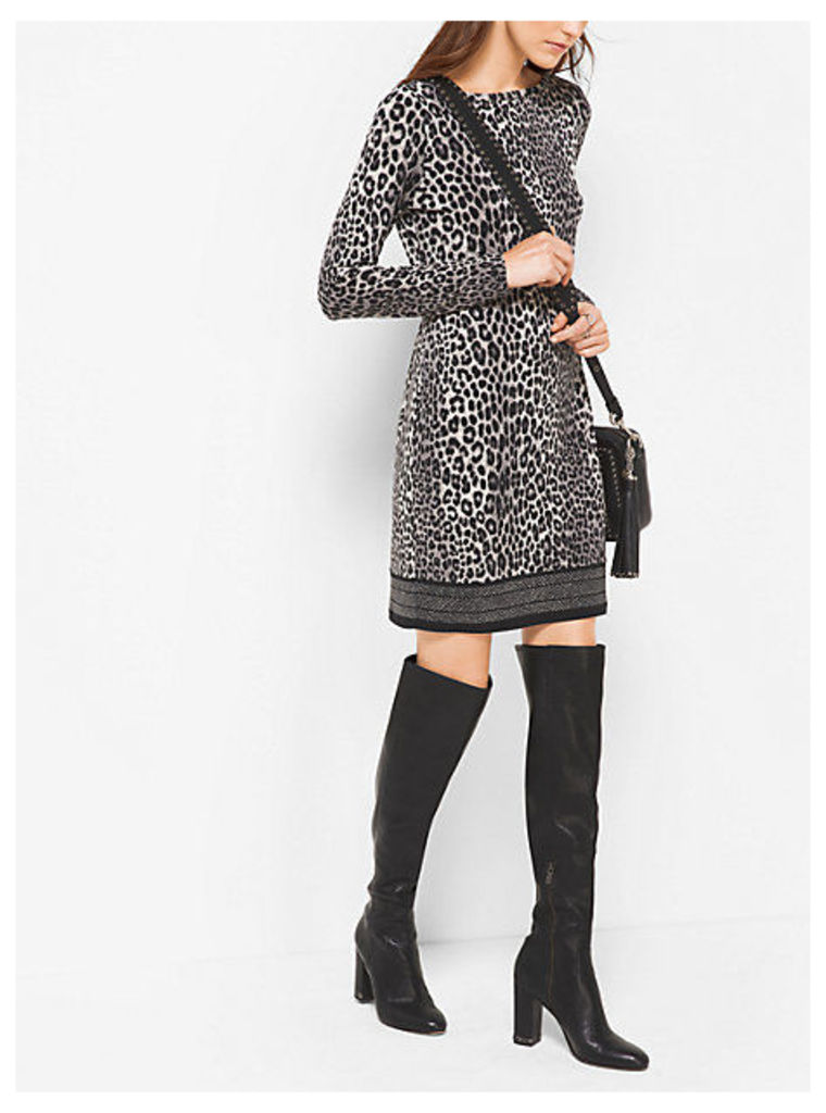 Animal-Print Matte-Jersey Dress
