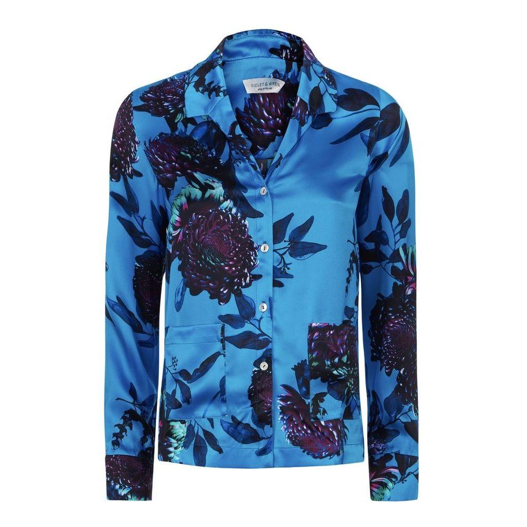 Violet & Wren - Pyjama Shirt in Orient Bloom