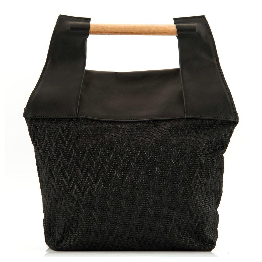 Meraki - MERAKI Duende Leather Backpack in Black