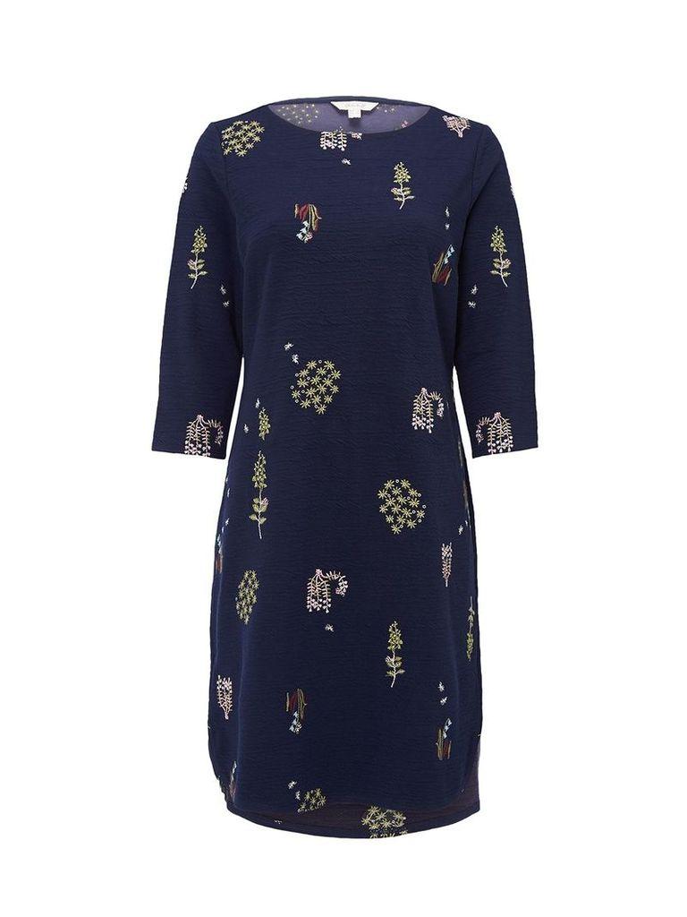 FLORA EMB JERSEY DRESS