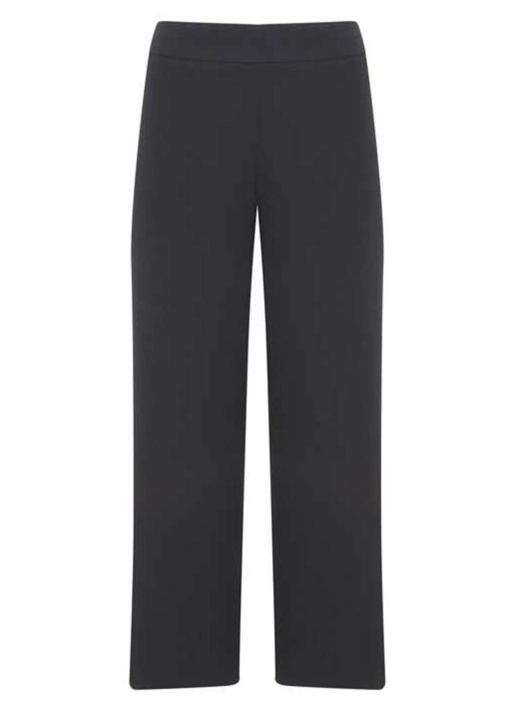 Ink Luxe Side Split Crop Trouser