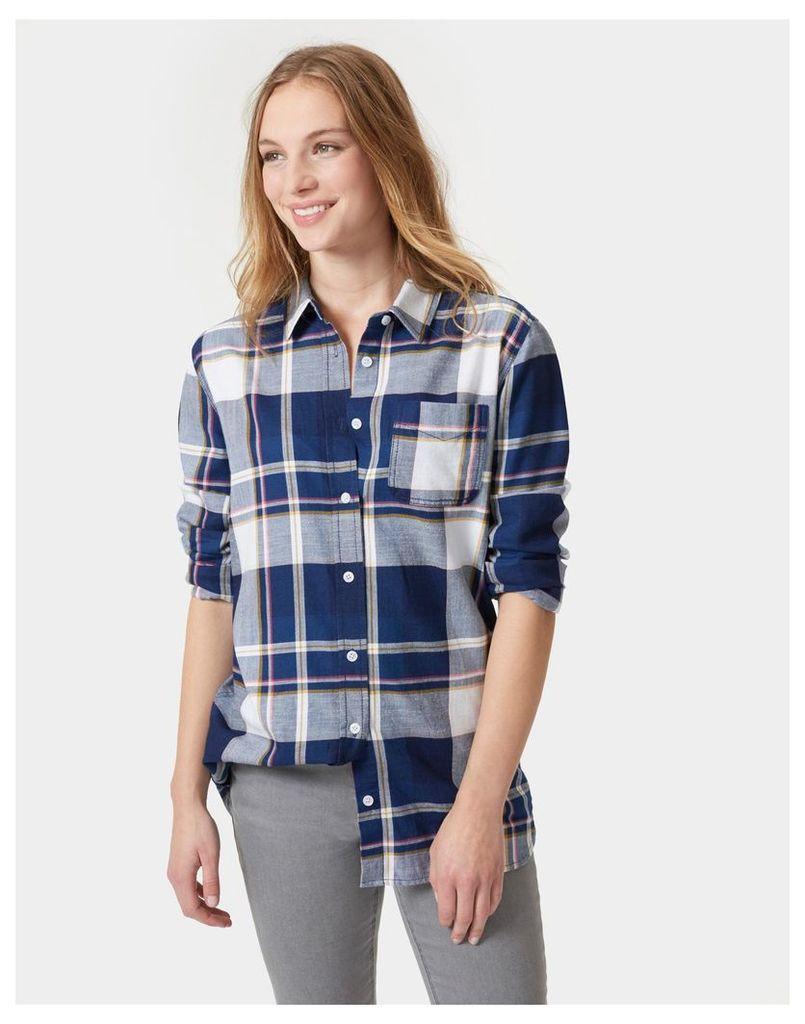 Indigo Check Laurel indigo Shirt  Size 10   Joules UK