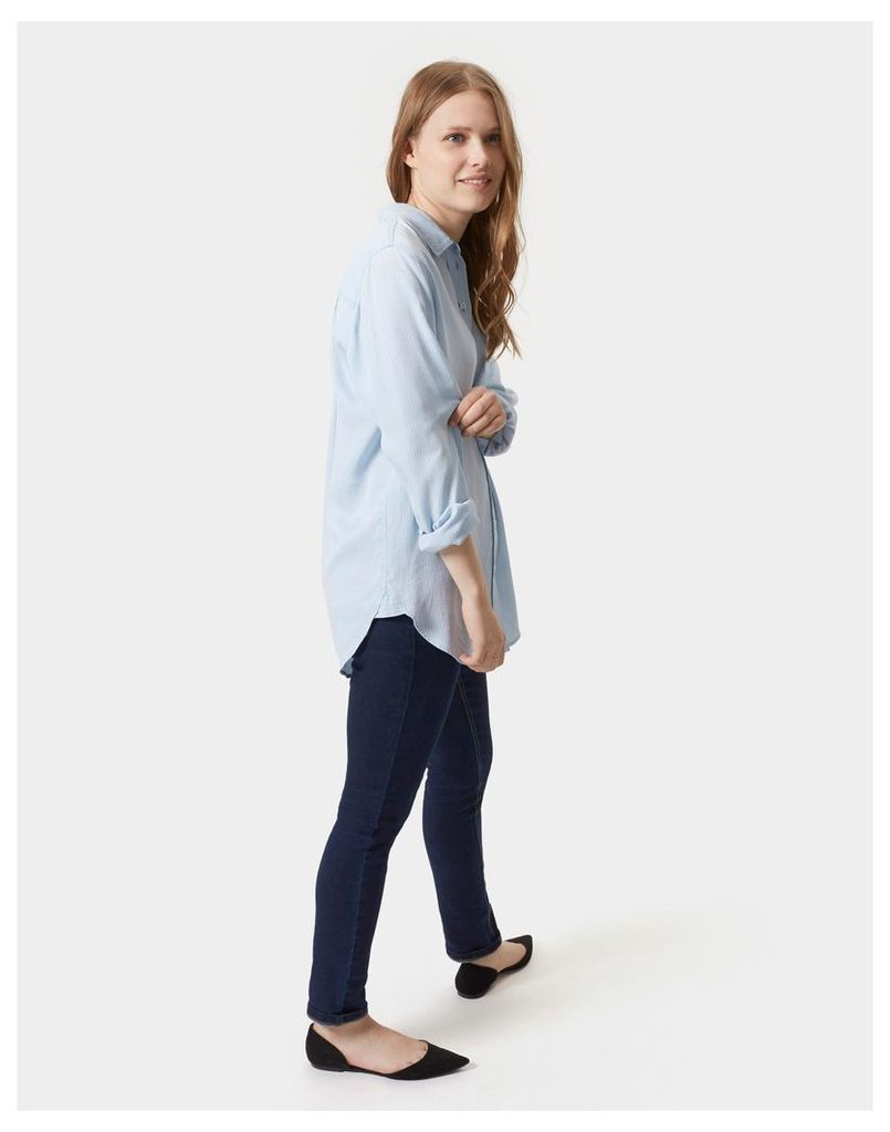 Indigo Stripe Laurel tencel Shirt  Size 8   Joules UK