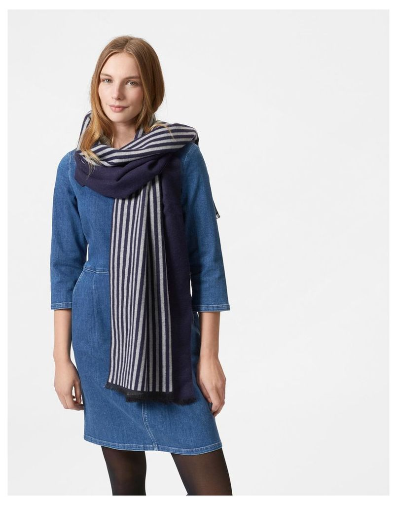 French Navy Twilby Scarf  Size One Size   Joules UK