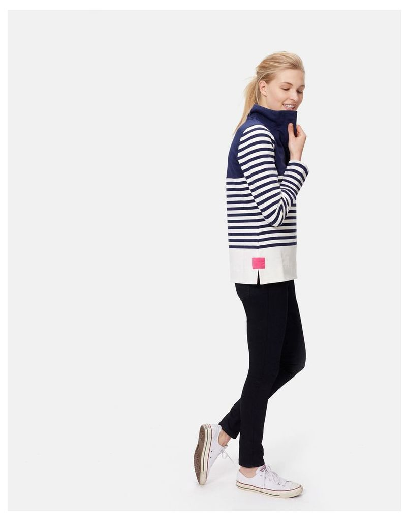 French Navy Block Cowdray Sweatshirt  Size 6   Joules UK