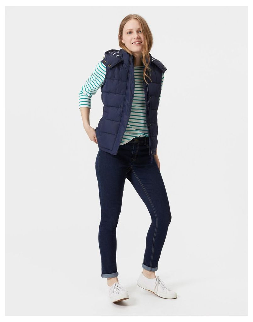 French Navy Wavely Hooded Gilet  Size 12   Joules UK