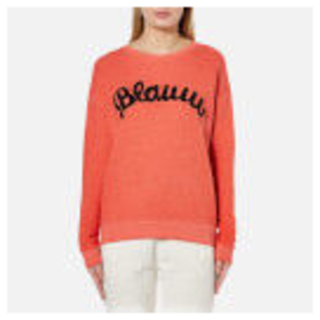 Maison Scotch Women's Blauw Burnout Sweatshirt - Lips
