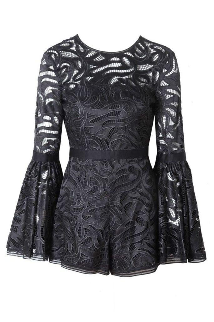 Rhianna Romper in Black