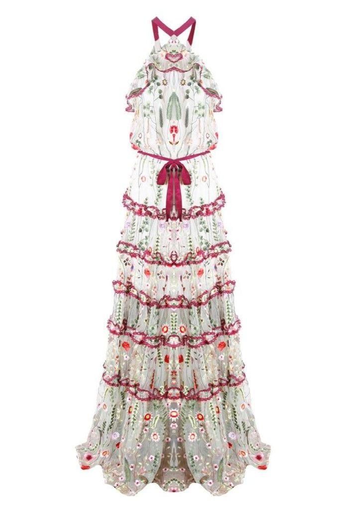 Glory Long Dress in Ivory