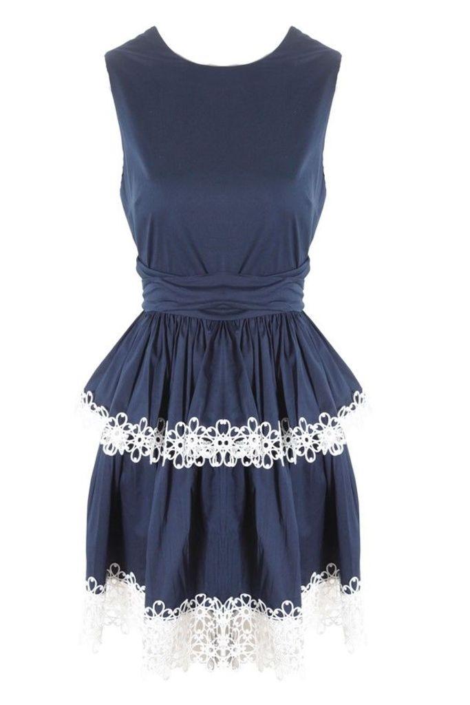 Desiree Dress in Navy