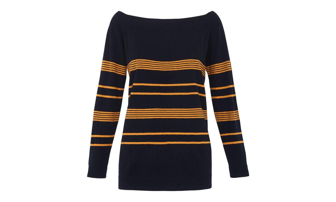 Stripe Bardot Relaxed Sweater