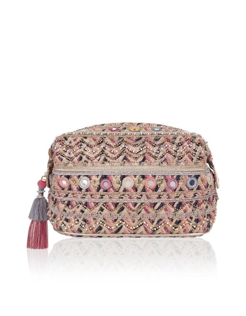 Amara Embellished Makeup Bag