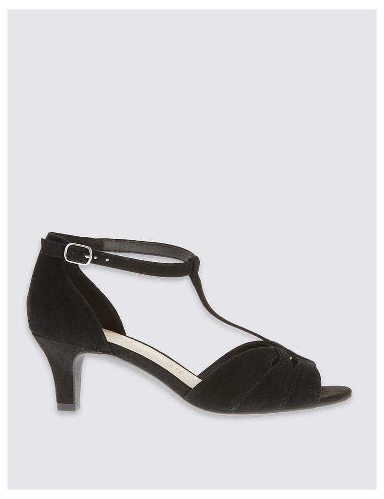 Footglove Wide Fit Suede Stiletto Sandals