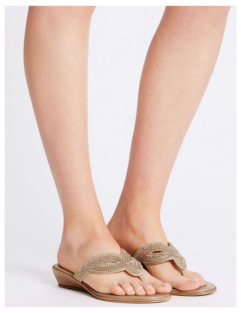 M&S Collection Wedge Heel Mule Slippers