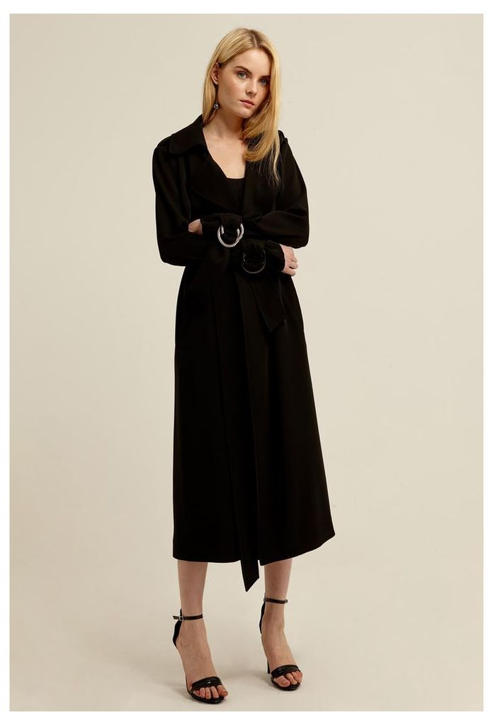 Jinx Trench Coat - Black