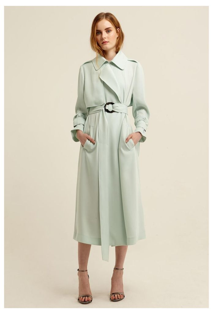 Jinx Trench Coat - Chalky Mint