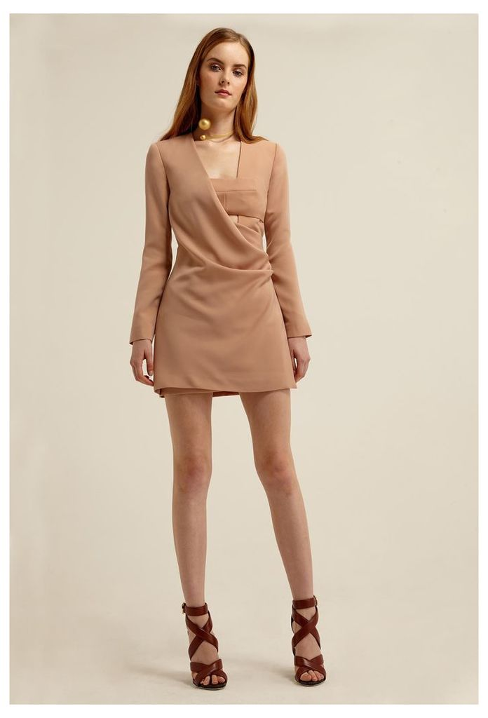 Larah Jacket Mini Dress - Pink Sand