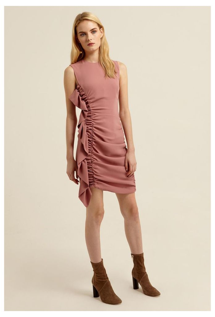Macey Sleeveless Mini Dress - Ash Rose