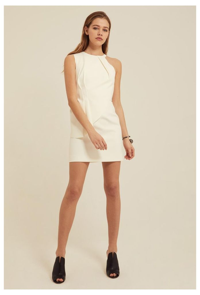 Quinto Peplum Mini Dress - Cream White