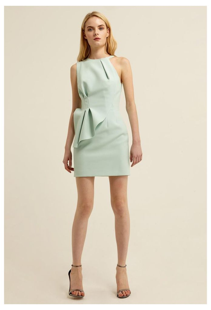 Quinto Peplum Mini Dress - Chalky Mint