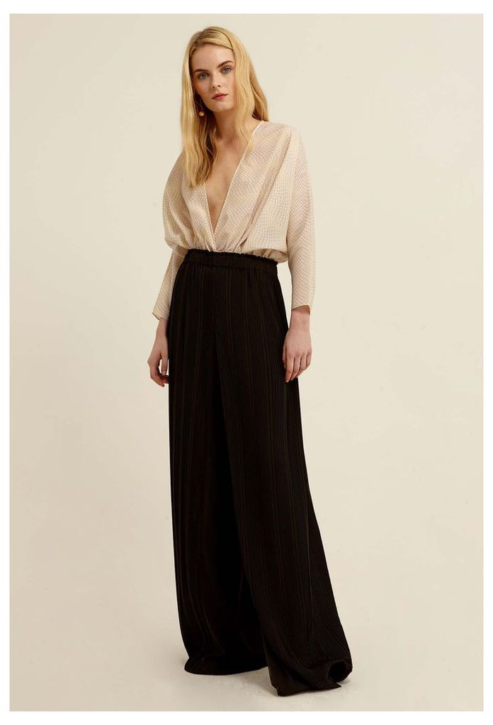 Saige Pleated Trousers - Black