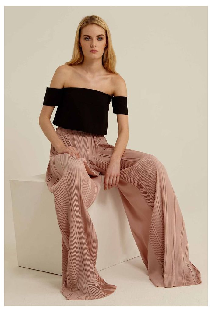 Saige Pleated Trousers - Pink Sand