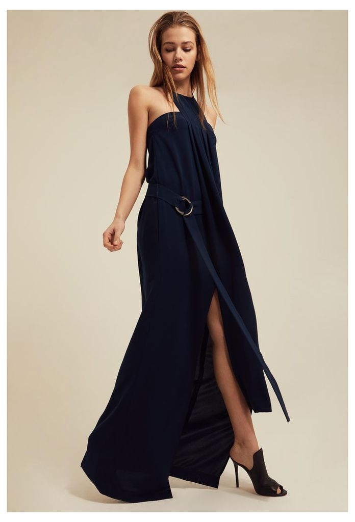 Zeme Halterneck Maxi Dress - Deep Marine