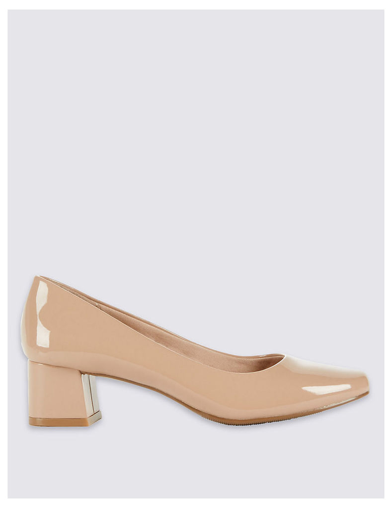 M&S Collection Low Block Heel Court Shoes with Insolia
