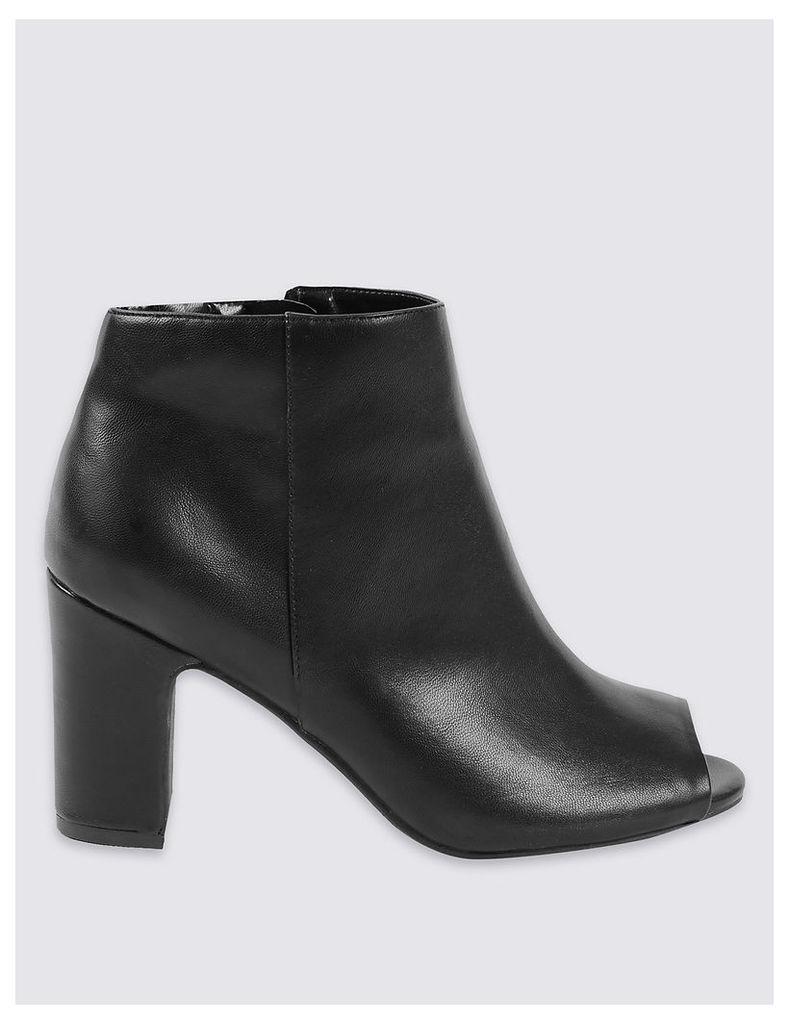 M&S Collection Block Heel Ankle Boots with Insolia