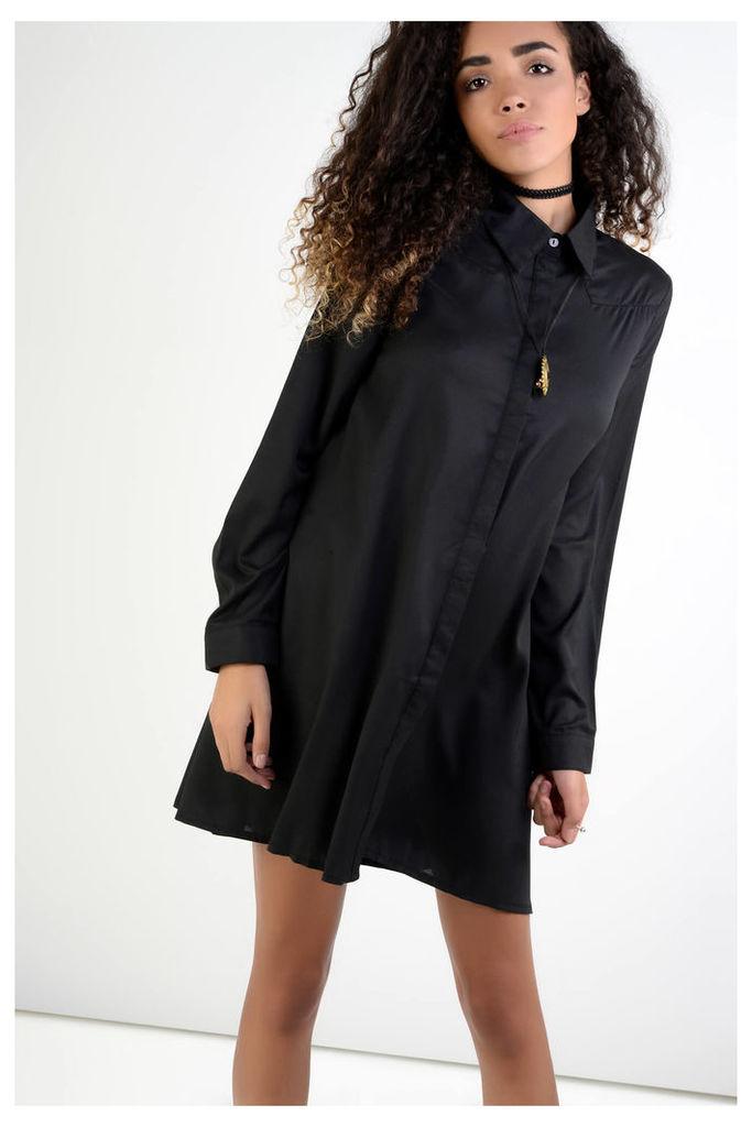 Black Swing Shirt Dress