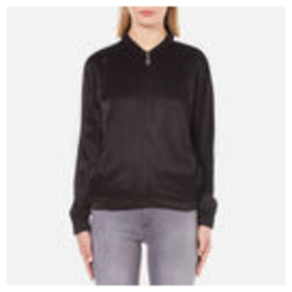 Karl Lagerfeld Women's Karl Satin Bomber Jacket - Black