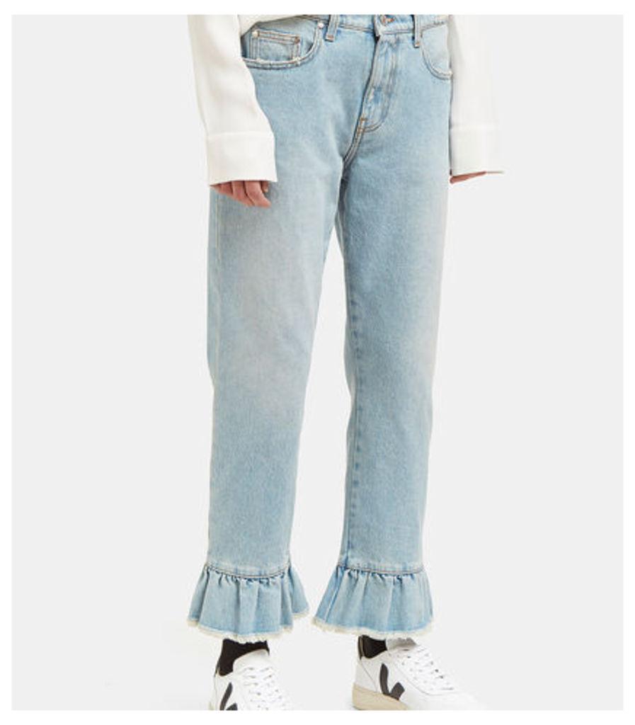 Frilled Cuff Jeans