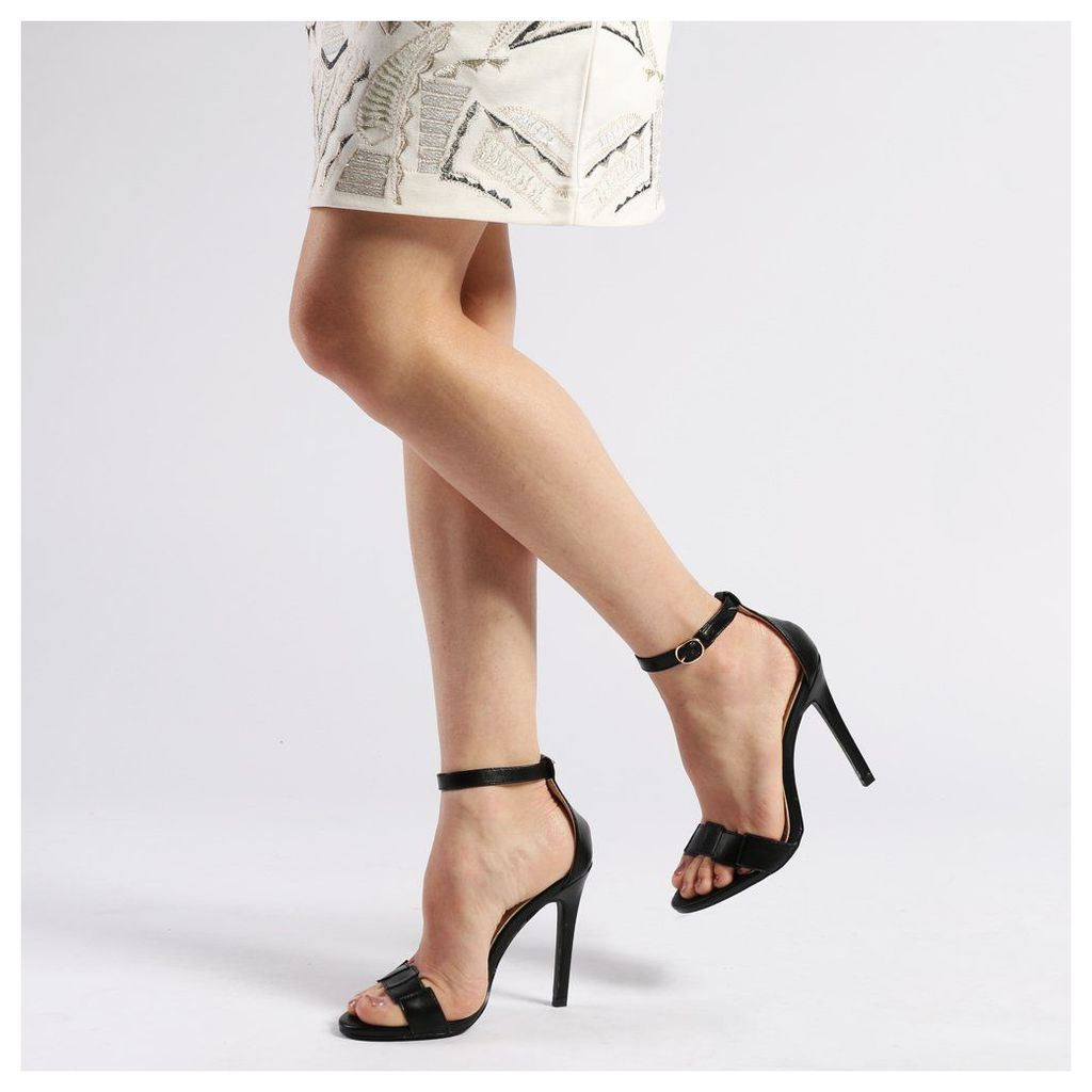 Wren Barely There High Heels in Black, Black