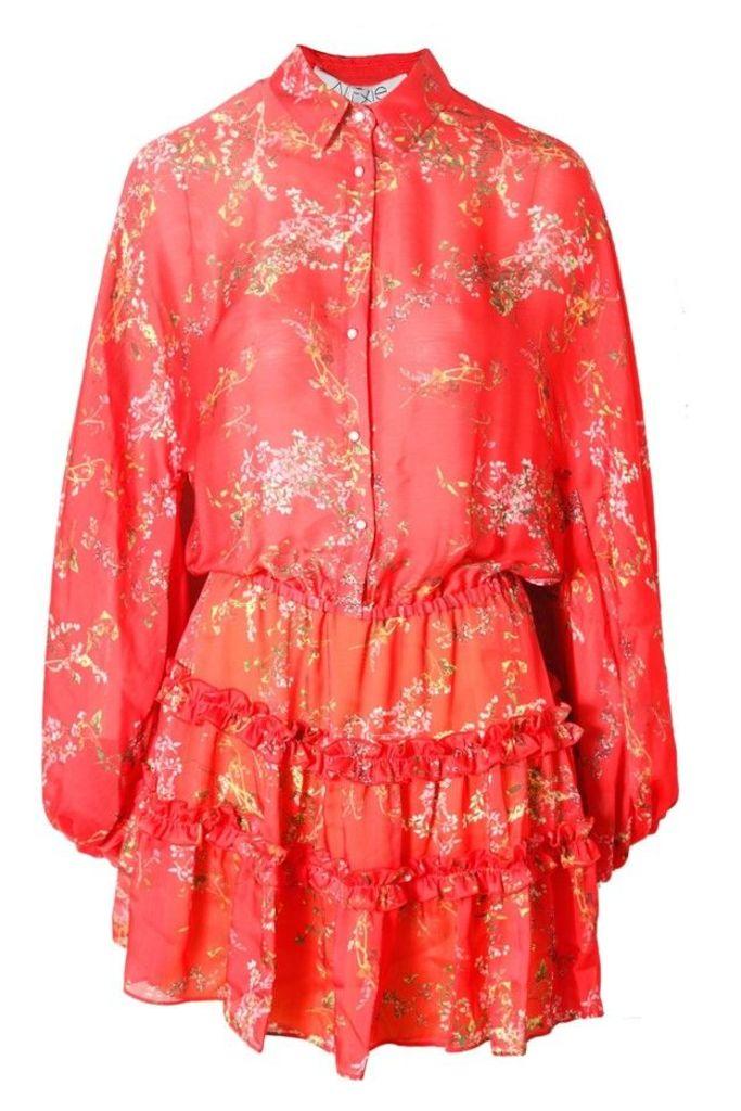 Loe Dress Blooming Red