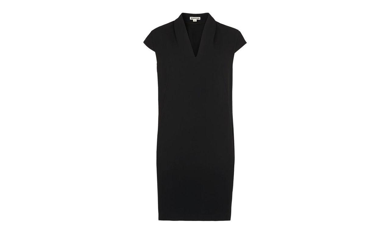 Paige V-neck Crepe Dress