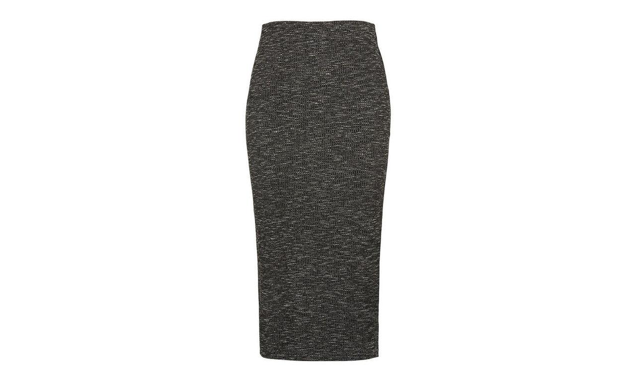 Ribbed Marl Jersey Tube Skirt