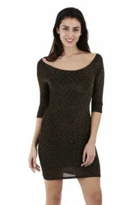 Midi Length Bardot Jumper Dress