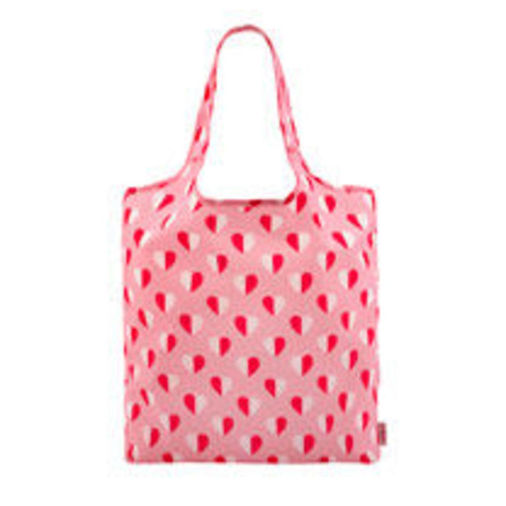 Mono Hearts Foldaway Shopper