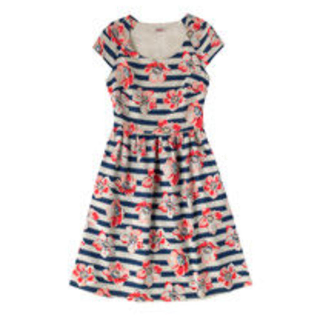 Large Anemone Stripe Dress