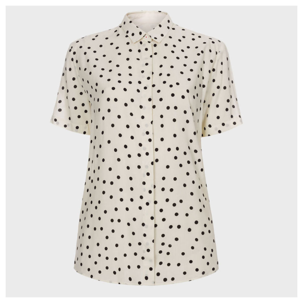 Paul Smith Women's Cream Polka Dot Short-Sleeve Shirt